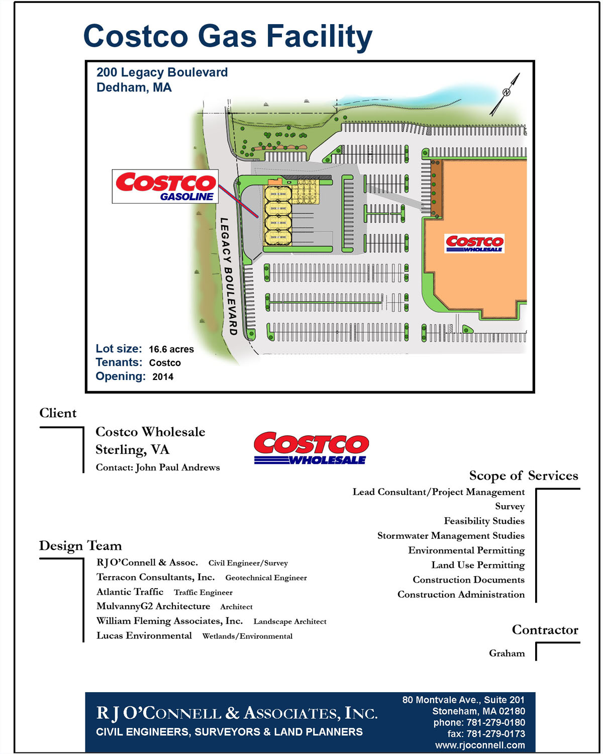 Dedham Ma Costco Gas Facility Rjo Connell Associates Inc